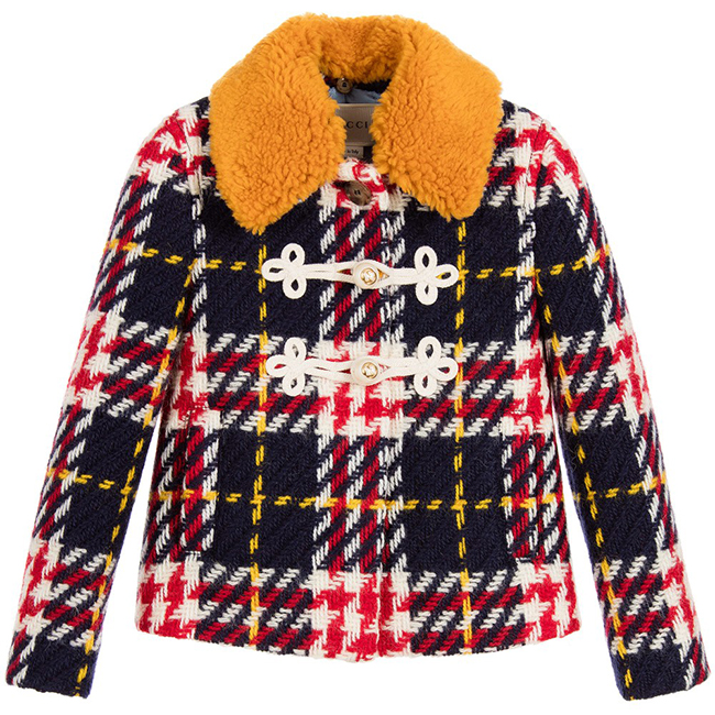 Момичешко палто Gucci, за истинските малки дами. 1688 лв. childrensalon.com
