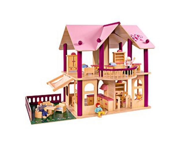 Дървена къща за кукли, за която всяко момиченце си мечтае. 248 лв. toy.store.bg