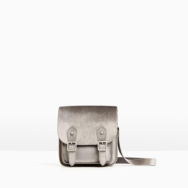 Кадифена чанта Zara за малки дами. 38лв. zara.com