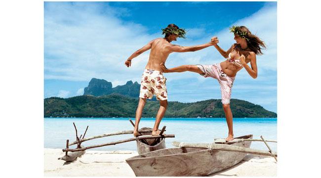 Дария Вербови за Vogue, 2004, Полинезия