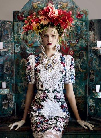 Карли Клос за Dolce & Gabbana, Vogue, 2012