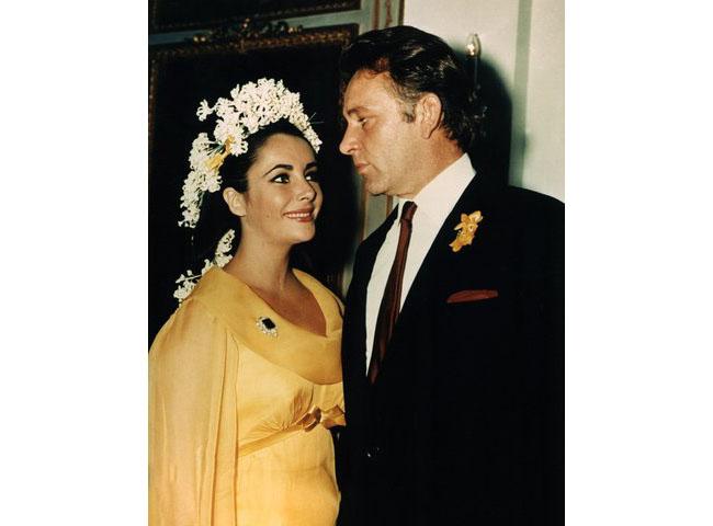Елизабет Тейлър на сватбата си с Ричард Бъртън, 1964 г.