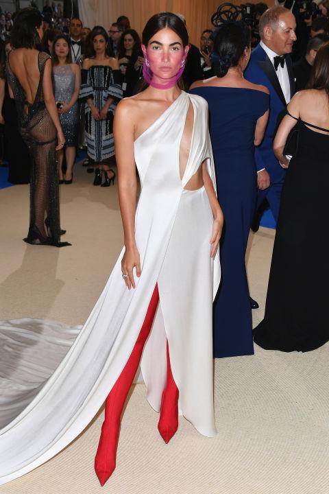Лили Олдриж в Ralph Lauren и ботуши Balenciaga