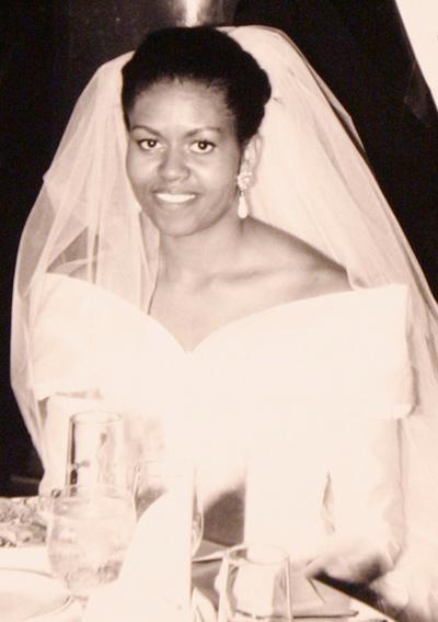 1992: Сватбената рокля на Мишел Обама