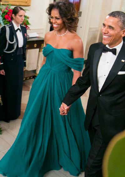2013: Отново в рокля на Marchesa.