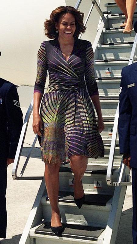2014: В рокля на Etro с калейдоскопичен принт