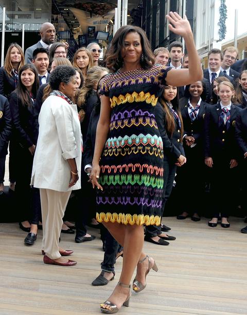 2015: В интересна рокля дело на италианската марка Missoni.