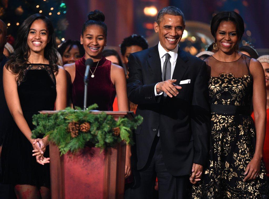 Семейство Обама в стилни визии по случай коледните празници през 2014г.