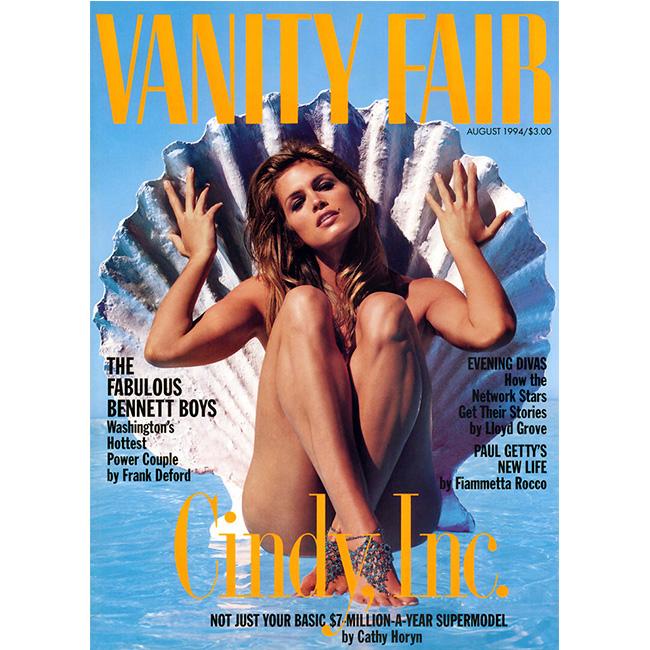 Август, 1994 г. Като русалка за корица на Vanity Fair.