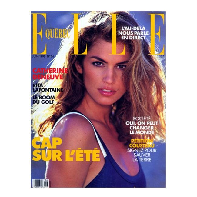 Юни, 1992 г. Корица на Elle Квебек.