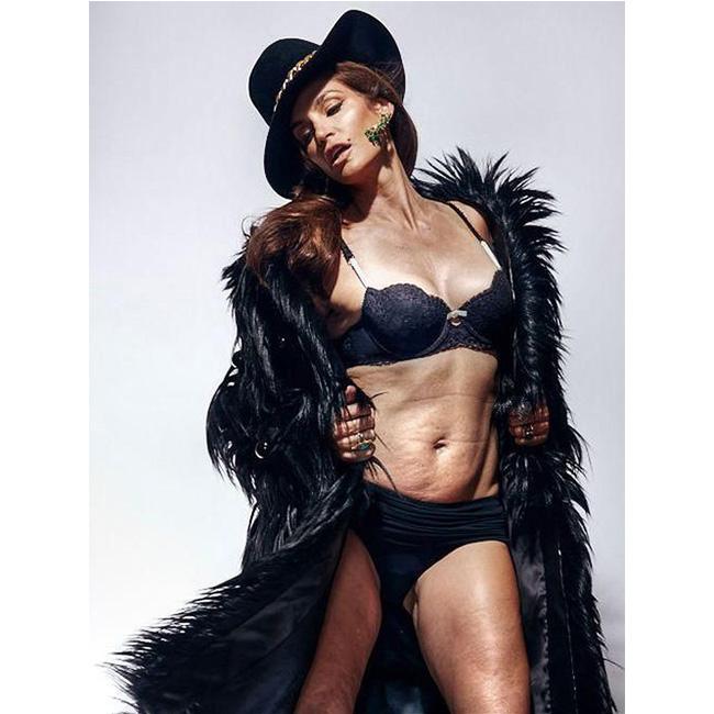 2015 г. Синди за Marie Claire - снимка без ретуш.