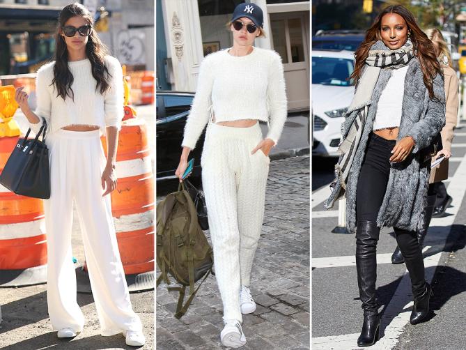 Пухеният пуловер на MAJORELLE Бялото съвършенство на фешън марката е любима дреха на Джиджи Хадид, която го съчетава перфектно във визиите за натовареното й ежедневие. Виждали сме го и на колежките й от VS - Сара Сампайо и Жасмин Туукс.