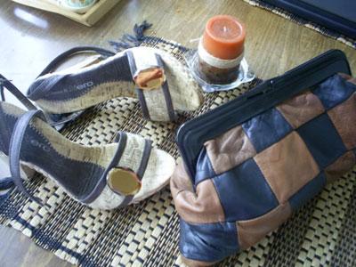 2. Любимите летни сандали и чанта в кафяво,която съчетавам с всичко