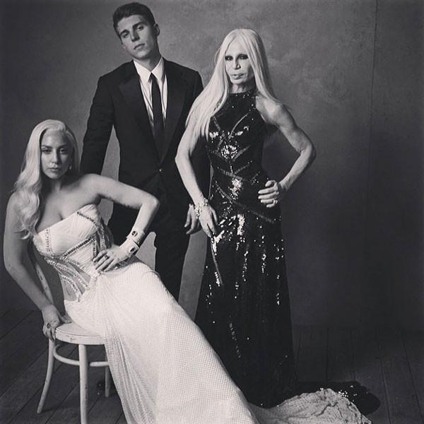 Лейди Гага, Нолан Фънк и Донатела Версаче