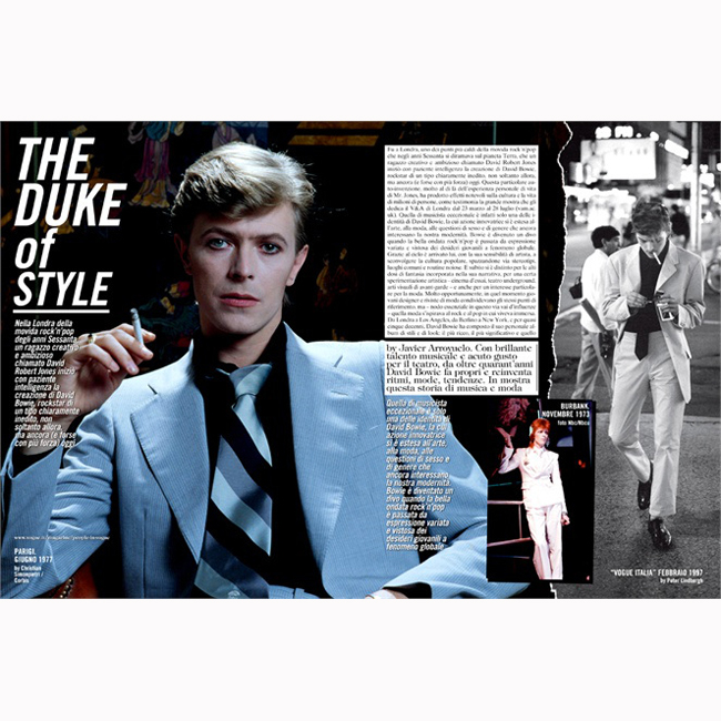 Ранните 70-те  Светъл костюм, очна линия за андрогинен ефект и понякога копринен шал вместо класическата вратовръзка.