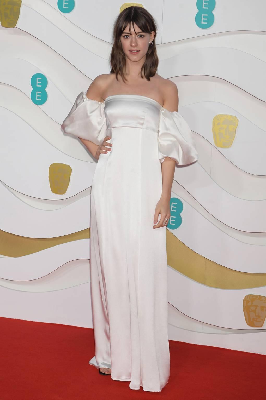 Дейзи Едгар-Джоунс С рокля Mother of Pearl на церемонията за 73-тата филмова награда на Британската академия.