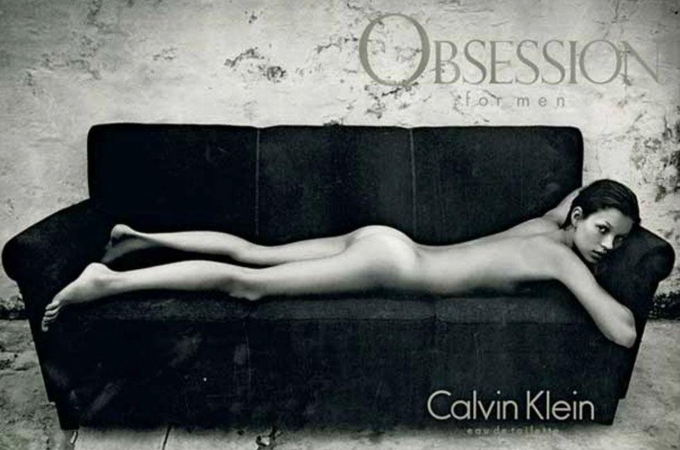 Кейт Мос За Calvin Klein през 1993-та година