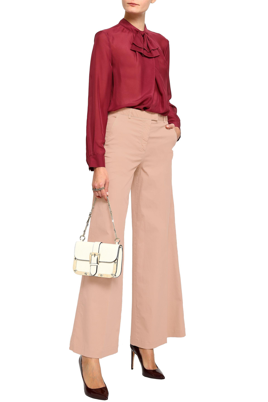 Панталон от памучен туил REDValentino от The Outnet, 365лв.