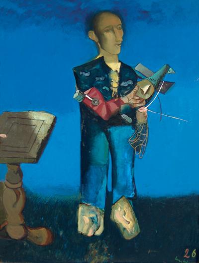 Мъж с птица, Емил Стойчев