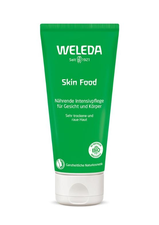 """Weleda Skin Food Единствена по рода си, супер обогатена формула, побрана в крем, пригоден за универсална употреба - от глава до пети. Хидратантът възстановява и защитава кожата, благодарение на съдържанието на растителни масла и екстракти. Прозвището му в Интернет необятието е """"натуралният La Mer"""", вероятно защото подхранва кожата със същия интензитет на хидратация и използва антиалергизиращ екстракт от невен, който подхранва нежно кожата и се грижи за сухотата. Приблизителната му цена е 15лв., а за да го открием най-близо до нас, посещаваме Weleda.bg ТУК."""