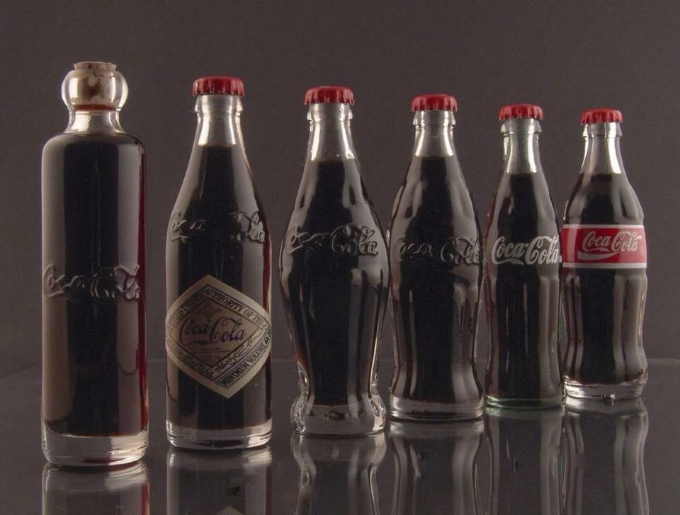 Еволюцията на бутилките на кока-кола