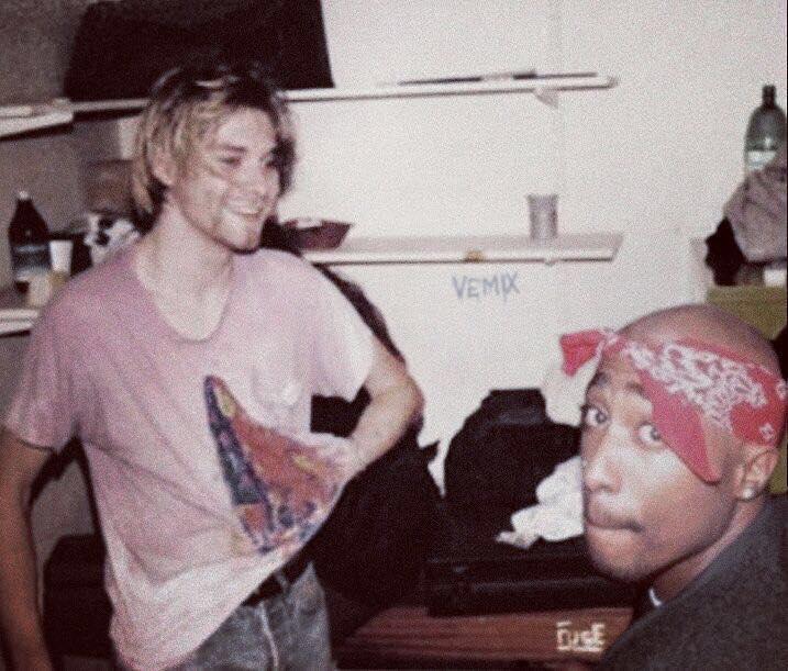 Кърт Кубейн и Tupac през 90-те