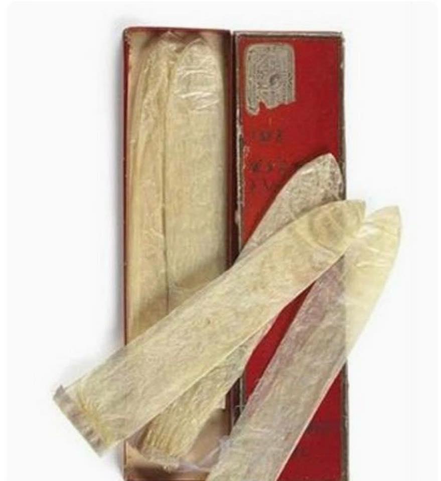 110-годишни кондоми, направени от рибешки черва