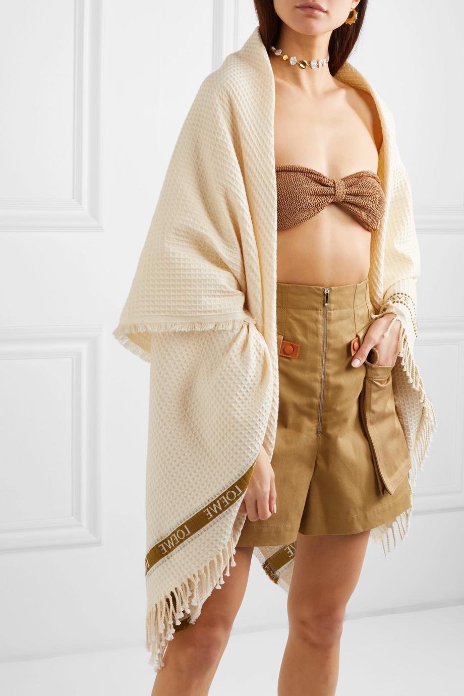 Плажна кърпа от пресован чист памук Loewe от Net-a-porter, 557лв.