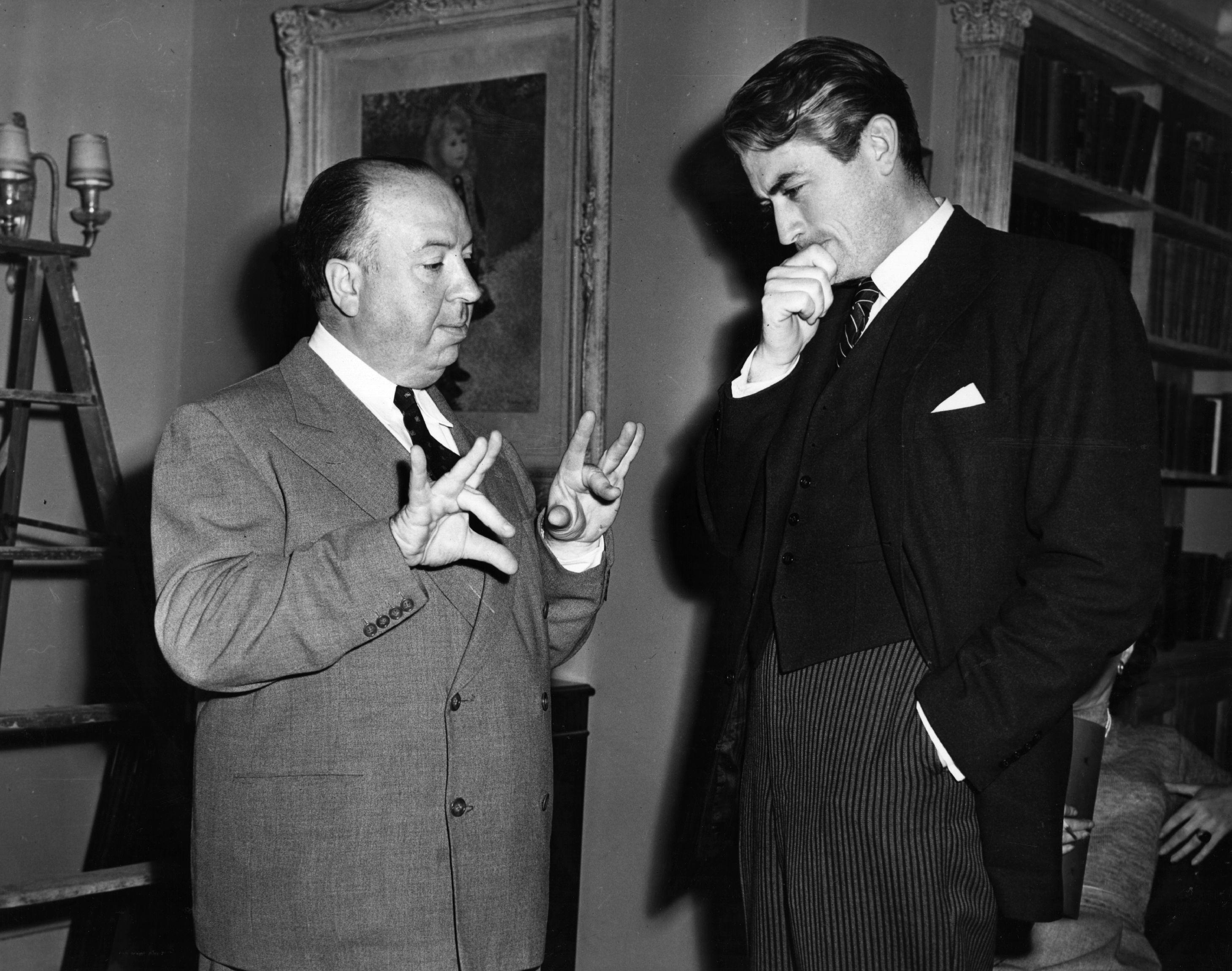 Хичкок с Грегъри Пек, 1947