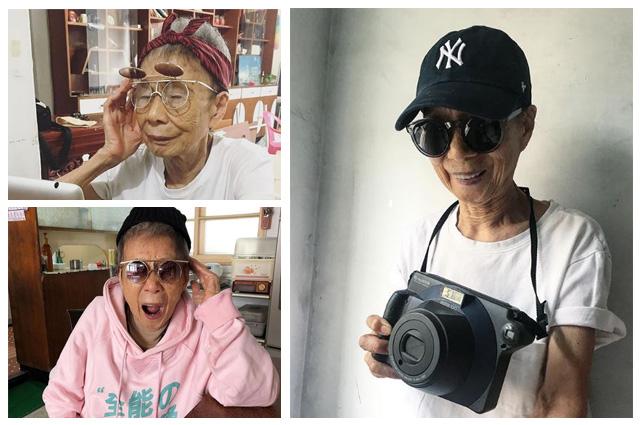 @moonlin0106 име: Муун Лин години: 90 повече: изключително симпатично тайванско бабе, което показва, че дори и почти на 100 все още може да rock-ваш street style със сучър и Underground шапка.