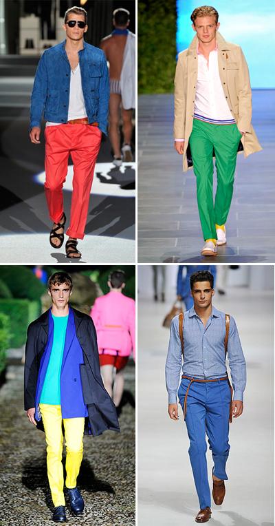 Сдобий се с поне 3 чифта различни по цвят панталони Ето ти и алтернативата на многоцветното съчетание. Акцентирай просто върху панталон в силен цвят ако не ти стиска да