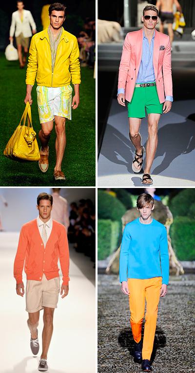 Не се бой от цветовете! Ако има едно нещо, което може да определи целия пролетно-летен сезон, то това са ярките цветове. Покажи малко смелост и започвай да смесваш в един аутфит наситени цветове, но не до получаване на нещо шарено, а играй с различни едноцветни дрехи.Не е чак толкова трудно!Etro; Dsquared2; Perry Ellis; Jil Sander SS 2011