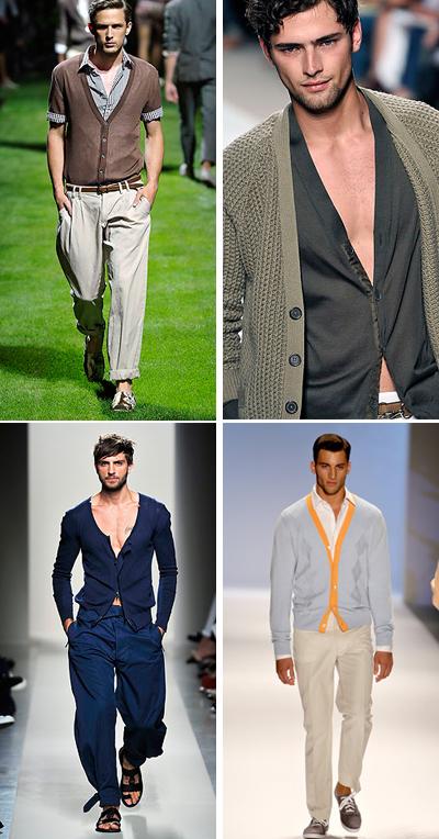 Не сако, а просто плетена жилеткаПролетната алтернатива на понякога неудобното сако е тънката вълнена жилетка. Най-добре 50% вълна, 50% памук - точно за пролетта. Стои безумно добре със skinny панталон или широк ленен с басти,съчетан със сандали.D&G; Hermes; Bottega Veneta; Perry Ellis SS2011