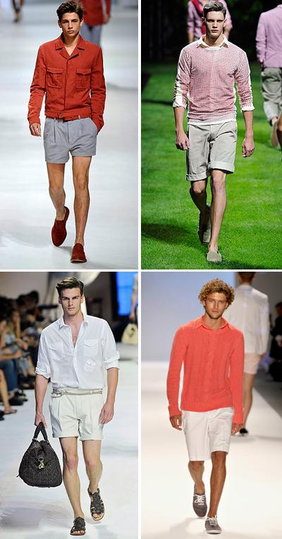 Дълго + късо Не, късите панталони не се носят само с тениска или риза с къс ръкав, дори напротив. Много по-интересно е да сприятелиш късите си панталони (но не спрортни, а такива с класическакройка) с риза с дълъг,леко навит ръкав. Красив плетен блузон или жилетка също ще свършат работа.Z Zegna; D&G;Dolce & Gabbana; Perry Ellis SS2011