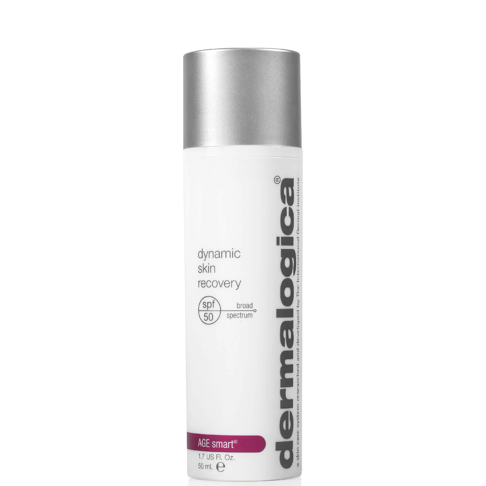 Dermalogica Dynamic Skin Recovery SPF50 146 лв. Специално разработен за зряла или преждевременно застаряваща кожа, кремът е богат и дълбоко хидратиращ, предпазва от свободните радикали и блокира слънчевите лъчи.