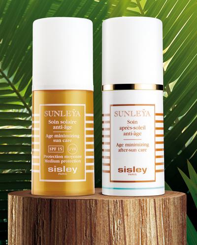 Продукти, които са подходяща основа за гримSisley Sunleÿa Age-Minimizing Sun Protection Истински качествен продукт, който предпазва от слънцето, иначе вълшебно, но доказано вредно за младостта на кожата.   Фина, богата, не мазна емулсия за всекидневна грижа на кожата със UVA и UVB филтри, с SPF 15, фактор, който позволява допускането на малка полезна част от слънчевите лъчи, отговорни за добрия здравословен тен. Подходящ е за всеки тип кожа, защита за градска среда.Чудесно се комбинира със SUNLEŸA - Анти-ейдж грижа след слънце, която удължава уникалното действие на Sunleÿa SPF 15 като възстановява стресираната от слънцето кожа.Цена при поискване!