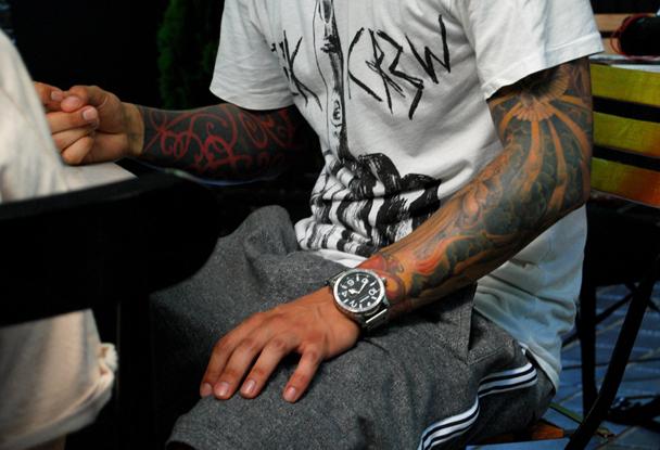 Dj for Marc anthony neck tattoo