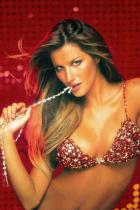 Жизел Бюндхен през 2000 г. Цена на Red Hot Fantasy Bra: 15 милионa долара.