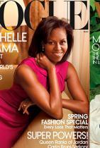 Мишел Обама Първа корица: март 2009 г.  Последна корица: декември 2016.