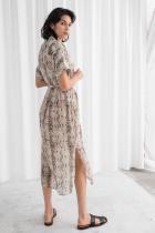 Ефирна рокля със змийски принт от &Other Stories, 201лв.