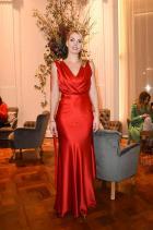 Лейди Кити Спенсър В Alberta Ferretti на афтър партито на бранда на Модната седмица в Милано.