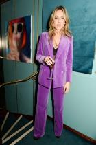 Дейзи Кначбъл Носейки The Deck за вечерното парти на Perrier-Jouet Valentine.