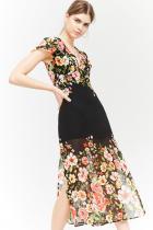 Флорална рокля от шифон от Forever 21 50лв 30лв