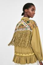 BEADED PARKA WITH FRINGING