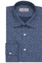 Риза Canali Кежуал предложение от мек памук, деликатен флорален принт и подпис от майсторите в занаята. 490 лв.