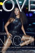 Наоми е на януарската корица на LOVE Magazine