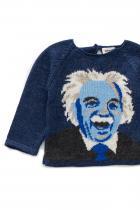 """Пуловер с ръкави тип реглан """"Einstein"""" на Oeuf NYC Индиго пуловер с ръкави тип реглан """"Einstein"""", изработен от 100% алпака вълна. Закопчава се в задната част с копче. Цена: 222,00 лв."""