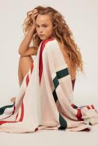 Многоцветна памучна плажна кърпа Oysho, 55,95лв.