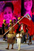 2016: Знаменосецът на Тонга Истинската звезда на церемонията в Рио обаче е Пита Тауфатофуа, който предизвиква фурор с лъскавите си мускули.