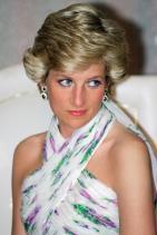 Принцеса Даяна със сапфирени обеци, 1990 г.